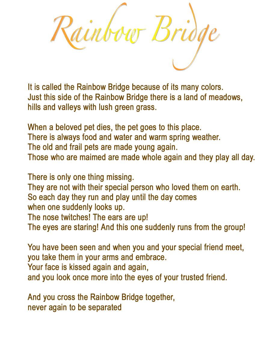 a doggy rest in peace poem